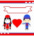 Valentines Day Couple vector image