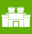 ancient fortress icon green vector image vector image