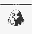 angry eagle vector image