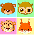 Animal avatars vector image vector image