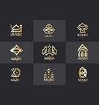 arabic logo set architectural elements vector image vector image