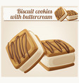 biscuit cookies with buttercream vector image vector image