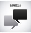 bubbles talk vector image vector image
