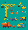 building under construction crane and vector image vector image