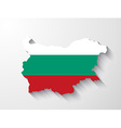 Bulgaria map with shadow effect vector image vector image