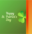 Card to Saint Patricks Day vector image