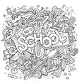 Cartoon cute doodles school vector image vector image