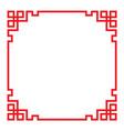 china border frame vector image