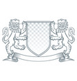 coat arms lion vector image vector image