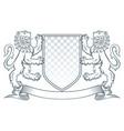coat arms lion vector image