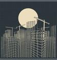construction industry blueprint vector image vector image
