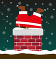 cute fat big Santa Claus stuck in chimney vector image vector image