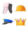 design of headwear and cap sign collection vector image