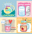 different fruit drinks vector image