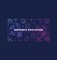 distance education line colored horizontal vector image vector image