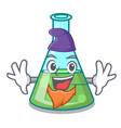elf science beaker character cartoon vector image vector image