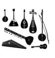 ethnic music instruments set musical instrument vector image
