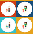 flat icon family set of grandpa boys daugther vector image vector image