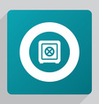 flat safe icon vector image