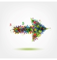 Floral arrow for your design vector image vector image