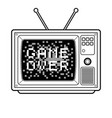 game over on tv coloring book vector image vector image