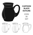 glass jug of milk icon in cartoon style isolated vector image vector image