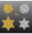 golden and silver christmas stars and balls vector image vector image