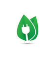 green plug power eco energy concept icon vector image
