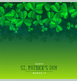 green st patricks day leaves background vector image vector image