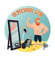 gym school design concept vector image