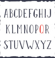 Hand drawn alphabet