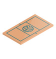 icon playground volleyball in isometric vector image vector image