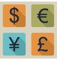 icons of money vector image