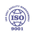 iso 9001 stamp sign - quality management systems vector image vector image