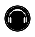 isolated headphones icon vector image vector image