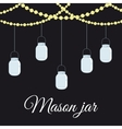 Jar mason fashion glass vector image vector image