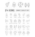 line icons women equality day vector image