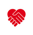 love hand care symbol logo vector image vector image