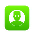 man in the dark icon digital green vector image