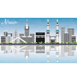 Mecca Skyline with Landmarks Blue Sky vector image vector image
