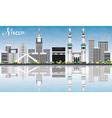 Mecca Skyline with Landmarks Blue Sky vector image vector image