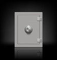metal safe vector image vector image