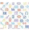 Music Background Outline Icon Set vector image vector image