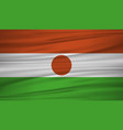 niger flag flag of niger blowig in the wind eps vector image
