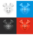 pig set of icon at different vector image