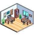 pixel art isometric office detailed vector image vector image