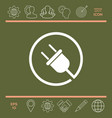 plug in round icon vector image