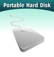 portable hard disc vector image vector image