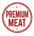 premium meat sign or stamp vector image vector image