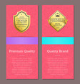 premium quality and brand vector image vector image